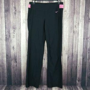 Nike Dri-Fit black and pink workout pants